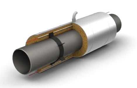 Элемент трубопровода с кабелем вывода ППУ ОЦ